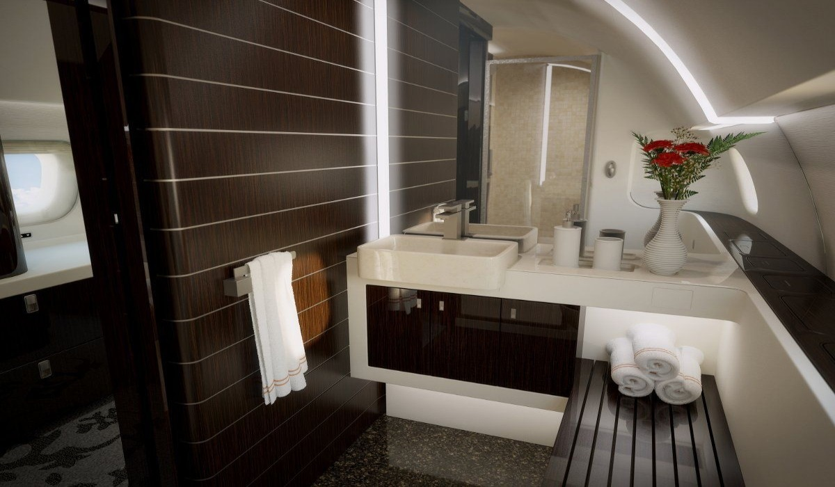 THE MOST LUXURIOUS PRIVATE JET BATHROOMS